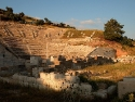 Ancient Amphitheatre in Bodrum by sunset
