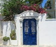 Blue gate at a typical Bodrum house
