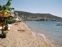 The long sandy Bodrum beach