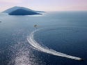 Parasailing in Bodrum, Turkey