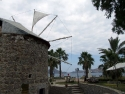 Windmill in the port of Yalikavak 