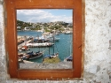 Fantasic view out of a window from St. Peters Castle in Bodrum