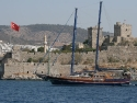 Side view from St Peters Bodrum Castle