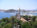 A view on the mosque near the Bodrum castle
