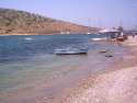 The beach of Gumusluk, Bodrum