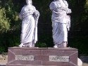 Sculptures of King Mausollos and Artemisia