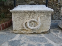 Snake altar from King Mausolus' tomb in Halikarnassus (ancient Bodrum) 