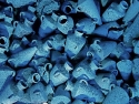 Collection of blue amphorias at the Bodrum Museum of Underwater Archeology