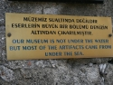 Sign at the entrance of the Bodrum Museum of Underwater Archeology