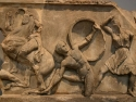 Herakles and the Amazons, Greek, around 350 BC From the walls of Castle of St Peter, Bodrum, modern Turkey