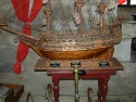 Model ship at the Bodrum Museum of Underwater Archeology