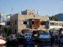 Typical fish restaurant in the harbour of Yalikavak, Bodrum, Turkey